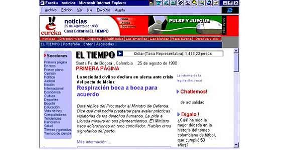 HISTORIA DE EL TIEMPO INTERNET 3