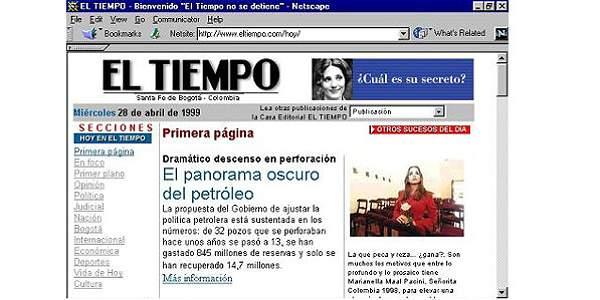 HISTORIA DE EL TIEMPO INTERNET 4