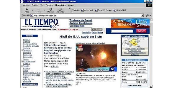 HISTORIA DE EL TIEMPO INTERNET 5