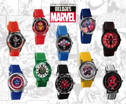 7979b67180f4 Por primera vez en Colombia los 10 relojes originales de los súper héroes  de Marvel. Con cada reloj