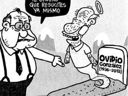 'Matando el tiempo', el producto de ese ejercicio, de 286 páginas, muestra su agudeza y su pluma ácida, en la que cobran importancia los capítulos dedicados al exprocurador Alejandro Ordóñez, al expresidente Uribe, a Maduro, a Obama, a la economía mundial y, en especial, a su padre, Ovidio González, quien se convirtió en referente de la eutanasia en Colombia. (Ver también: El carácter y las polémicas de Ordóñez, vistas desde las caricaturas de Matador en EL TIEMPO)